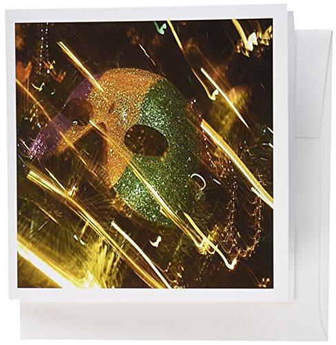 3drose Print of Abstrakt Mardi Gras Maske und Licht zerbirst Karten, Set 12(GC 196294_ 2)