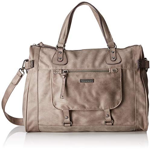 Tamaris Damen Ulla Bowling Tasche, Grau (Light Grey), 25x15x37 cm