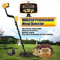 WOSOSYEYO Detector de Metales de Mano MD6350 Metro de la Caza del Tesoro Buscador de Oro