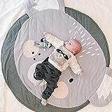 Ustide Baby Rugs strisciante striscianti Cartoon Sleeping tappeti, tappetini antiscivolo gioco bambini cotone pavimento tappeto da gioco coperta Play ambientale Carpet Kids Room Decor 95x 95cm Koala