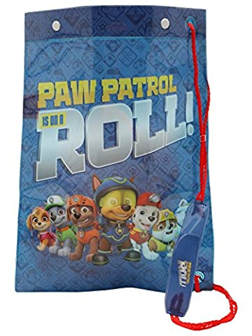 Paw Patrol Kids Character Print Waterproof Material Drawstring Swim Bag Multicolour One Size
