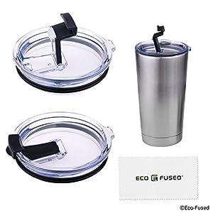 Eco-Fused Auslaufsicher und dicht Deckel Kompatibel mit 20 Oz Yeti Rambler, 2 Pack - für kalte Getränke - Upgade oder Ersatz für Original Yeti Rambler Deckel