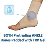 Medipaq Gel Both Ankles Protection Sock - Protect Lateral & Medial Malleolar Protruding Ankle Bones