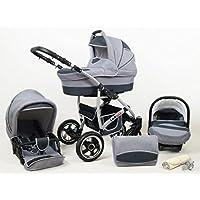Baby Pram Pushchair Stroller Buggy Travel System Set Raff Largo + Baby Bag + Rain Cover + Mosquito Net + Cup Holder