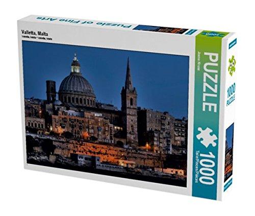 Preisvergleich Produktbild Valletta, Malta 1000 Teile Puzzle quer (CALVENDO Orte)