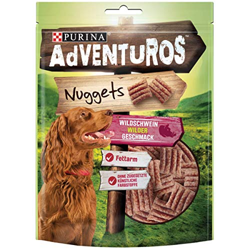 AdVENTuROS Hundesnack Nuggets, 6er Pack (6 x 90 g) -