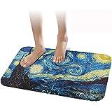 """Alfombrilla antideslizante para baño cennbie Super suave baño alfombra suave absorbente baño alfombra tamaño grande, 30""""W x 20"""" L (noche estrellada)"""