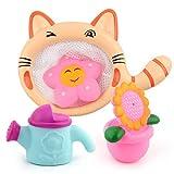 hou zhi liang 1set bagnetto giocattolo nuoto per bambini bambole Bathtub Playset Wash Play Cartoon giocattoli educativi (doccia)