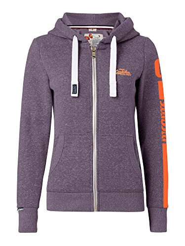 M.Conte Rachel Damen Hooded Sweater Sweat-Shirt-Jacke S M L XL Weiss Blau Grau Schwarz Pink Mit Kapuze XL Lila (Zip Hoodie Full Sherpa)