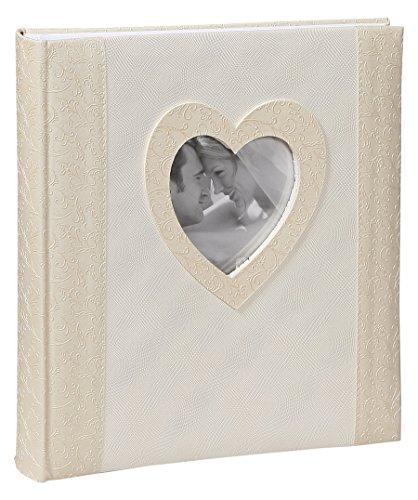 29x32 cm 60 Seiten Hochzeit Foto Album mit Ausschnitt: Farbe: Creme ()