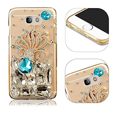 Coque Etui pour Samsung Galaxy A3 2017 A320 Cristal Coque de Protection Strass Diamants Housse,MingKun Bling Etui pour Samsung Galaxy A3 2017 A320 Briller Diamant Rhinestone Pochette Protection Case Cover Hull