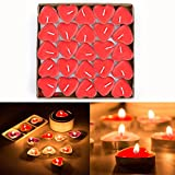 Gearmax® 50er Teelichter Set Romantische Hochzeit Herz Kerzen