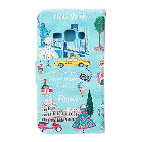 Cuitan Hoch Qualität PU Leder Flip Schutzhülle für Apple iPhone 6 / 6S (4.7 Inch), Kartenfach Visitenkarten Slot und Standfunktion Design Case Cover Hülle Tasche Etui Ledertasche Handytasche Handyhüll Postkarte