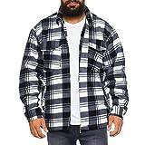 Herren Thermohemd gefüttert Arbeitshemd Jacke - mehrere Farben ID531, Größe:M;Farbe:Hellgrau