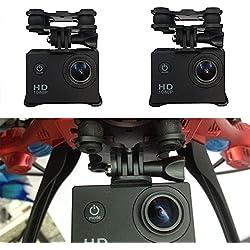 Hanbaili Adaptador de montaje del soporte de la cámara del deporte, soporte universal Gimbal W / Camera Mount para Syma X8C RC Quadcopter Drone Black