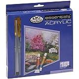 Royal & Langnickel - Tubo de pintura acrílica (18 unidades, 12 ml, incluye 2 pinceles)