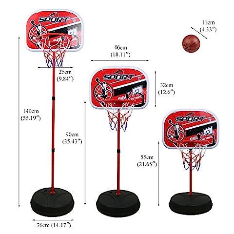 Panier Basket Exterieur - Panier de Basket Enfant Pied Réglable en