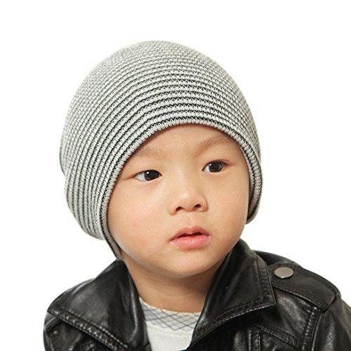 c5fdf5b7554 Perman Baby Beanie Boy Girls Soft Hat Children Winter Warm Kids Knitted Cap  (Black)