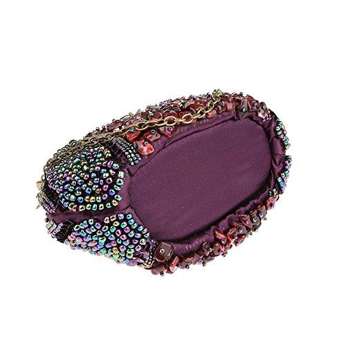 YOUAREFACNY YAE-1003-5, Poschette giorno donna verde Dark Green taglia unica Purple