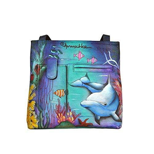 anuschka-pintado-a-mano-lujo-447-piel-compacto-crossbody-viajes-organizador-dolphin-world-multicolor