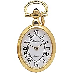 Harris Brothers Gold Plated Oval Pendant Watch 1209