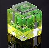 Beau et Unique Perle horizontale 3D pour appareil photo, adaptateur de chaussure chaude à trois niveaux à bulle pour appareils photo Canon Nikon (vert)
