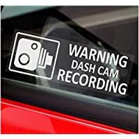 Platinum Place 5 x WARNING DASH CAM Recording-30x87mm WINDOW Stickers-Vehicle Camera Security Warning Dash Cam Signs-CCTV,Car,Van,Truck,Taxi,Mini Cab,Bus,Coach