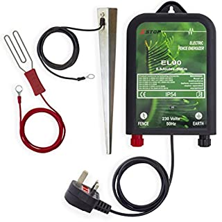 X-Stop EL50 230v AC MAINS 10Km Range ELECTRIC FENCE ENERGIZER ENERGISER 0.5J CE RoHS