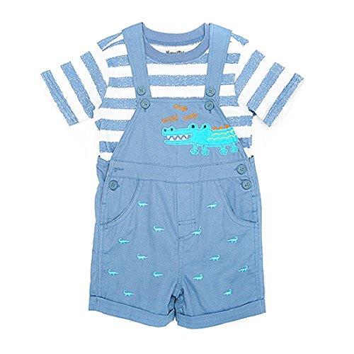 Nannette Shortalls-Set, Babys, Jungen, Alligator-Design, 6-9 Monate, Blau Nannette Baby Set