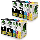 JARBO for Epson 27XL (T2711 T2712 T2713 T2714) Ink Cartridges 2Set+2BK High Capacity Ink Compatible with Epson WF 3640 7610 3620 7620 7110 Printer (4 Black,2 Cyan,2 Magenta,2 Yellow)