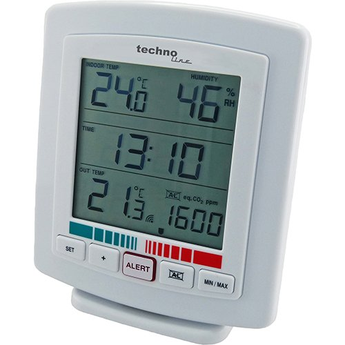 TEMPERATURSTATION HYGROMETER CO2 LUFTGÜTE MESSGERÄT WL 2000