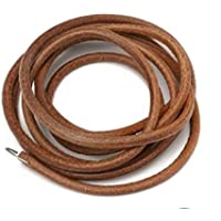 advancedestore Leather Treadle Belt for Sewing Machine with Metal Hook and User Manual (183cm, brown)