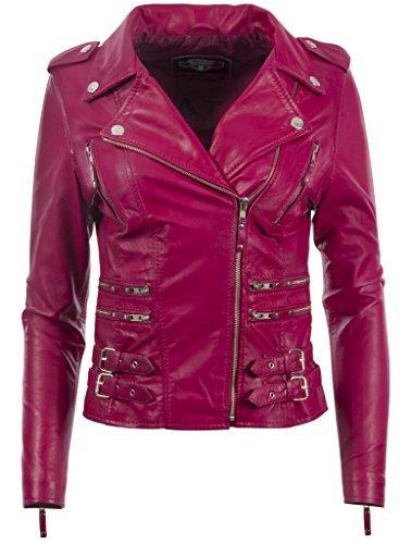 Pink Leather Jacket: Amazon.co.uk