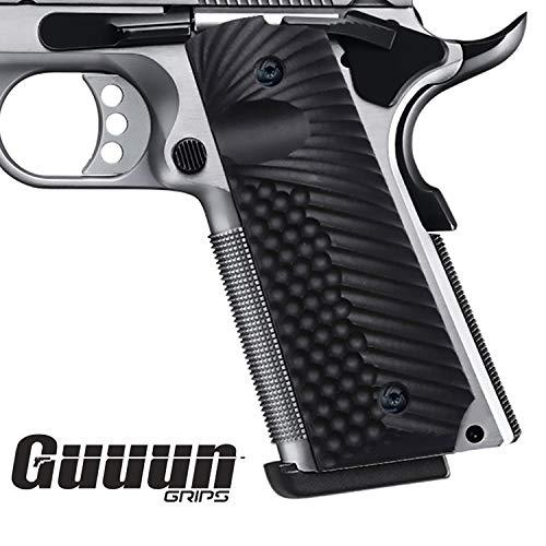 Guuun 1911 Griffe G10 Griffsichere Volle Größe Custom-Griff, Ambi-Sicherheitsschnitt OPS Eagle Wing Texture (Griffe Gun Custom)