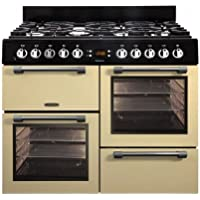 Leisure Cookmaster ck100g232Freestanding Gas Hob a + Color Cream–Kitchen (Kitchen Freestanding, Cream Colour, Rotary, Front, Gas Hob, Medium)