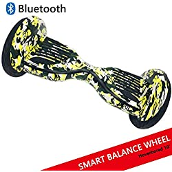 "Dragon Hoverboard con Ruedas de 10"" Scooter eléctrico Self-Balancing Self Blance Scooter Monopatín eléctrico Smart Self Balance Board Dibujo en Color (C-Green)"