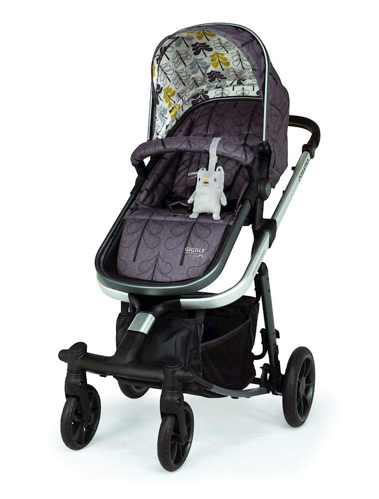 Cosatto Giggle Quad Pram & Pushchair Fika Forest Cosatto Enhanced performance. unique tyre material and all-round premium suspension give air-soft feel. Comfy all-round. spacious carrycot for growing babies.  washable liner. reversible reclining seat. Ultimate buy. tested up to a mighty 20kg for even longer use. big 3.5kg capacity basket for big shop 6