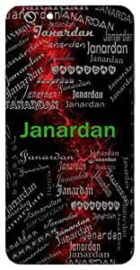 Janardan (One Who Helps People, Lord Vishnu) Name & Sign Printed All over customize & Personalized!! Protective back cover for your Smart Phone : Samsung A7 ( 2016 Edition )