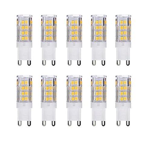 PRODELI AC 220V 3.5W G9 Warm White SMD 2835 Chip LED Light Bulb Pack of 10