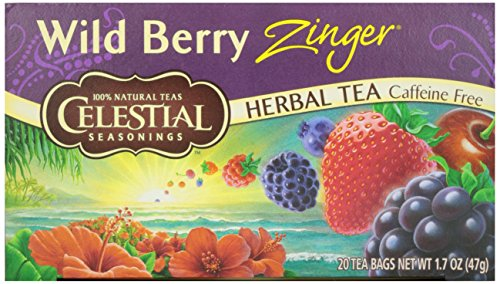 Celestial SEAS -onings - Herb Tea Wild Berry Zinger - 20 Tea Bags - Case of 6