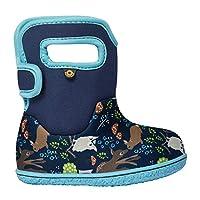 BOGS Baby Wellingtons Printed Waterproof Kids Boots UK 3-9 (UK 3, Blue Multi)