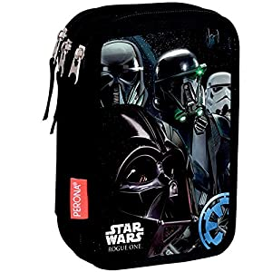 Montichelvo – Plumier Triple Star Wars Rogue One Imperial Disney Negro y Gris