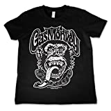 Officially Licensed Merchandise Gas Monkey Logo Kids T-Shirt - Black 7/8 Years