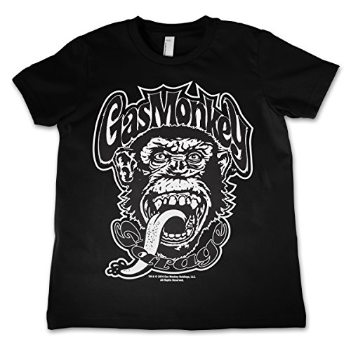 officially-licensed-merchandise-gas-monkey-logo-kids-t-shirt-black-3-4-years