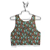 Clothing : Peacock Feathers Ladies Crop Top Sizes XS-3XL