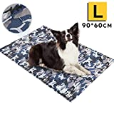 Large Dog Cooling Mat, Camouflage Oxford Resistant-Dirty Scratch-Resistant, Safety Non-Toxic Self Gel Cooling Mat for Dogs Cats Pet, Foldable Waterproof Wear-Resistant Cooling Pad for Dogs 90x60 CM