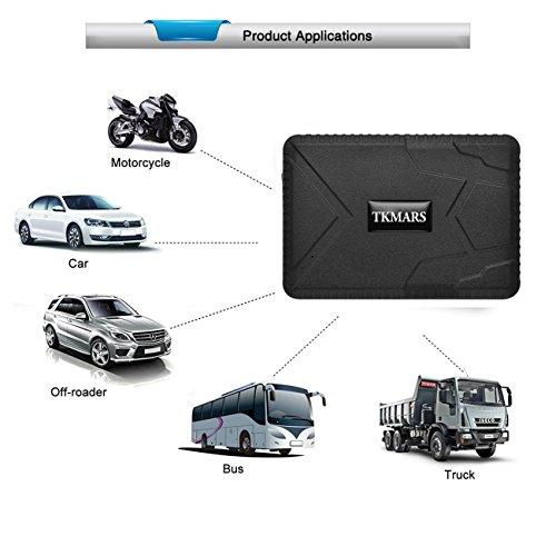 Hangang GPS Tracker, Auto Fahrzeug GPS Tracking Echtzeit-Tracking GPS Ortung starker Magnet GPS Tracker 120 Tage lange Standby GPS Locator f¨¹r kostenlose App Web & SMS-Tracking TK915