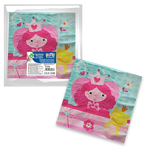Unbekannt Prinzessinnen Party - Pack 16 Servietten, 33 x 33 cm (68236)