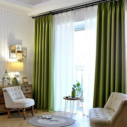 Tenda soggiorno,tinta unita isolamento termico blackout ombreggiatura completa piano semplice 1 pezzo-o 130x220cm(51x87inch)