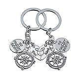 2pcs BFF beste Freund Keychain Ring paar keine Materie, wo Kompass Split gebrochenes Herz Freundschaft Geschenk Unisex